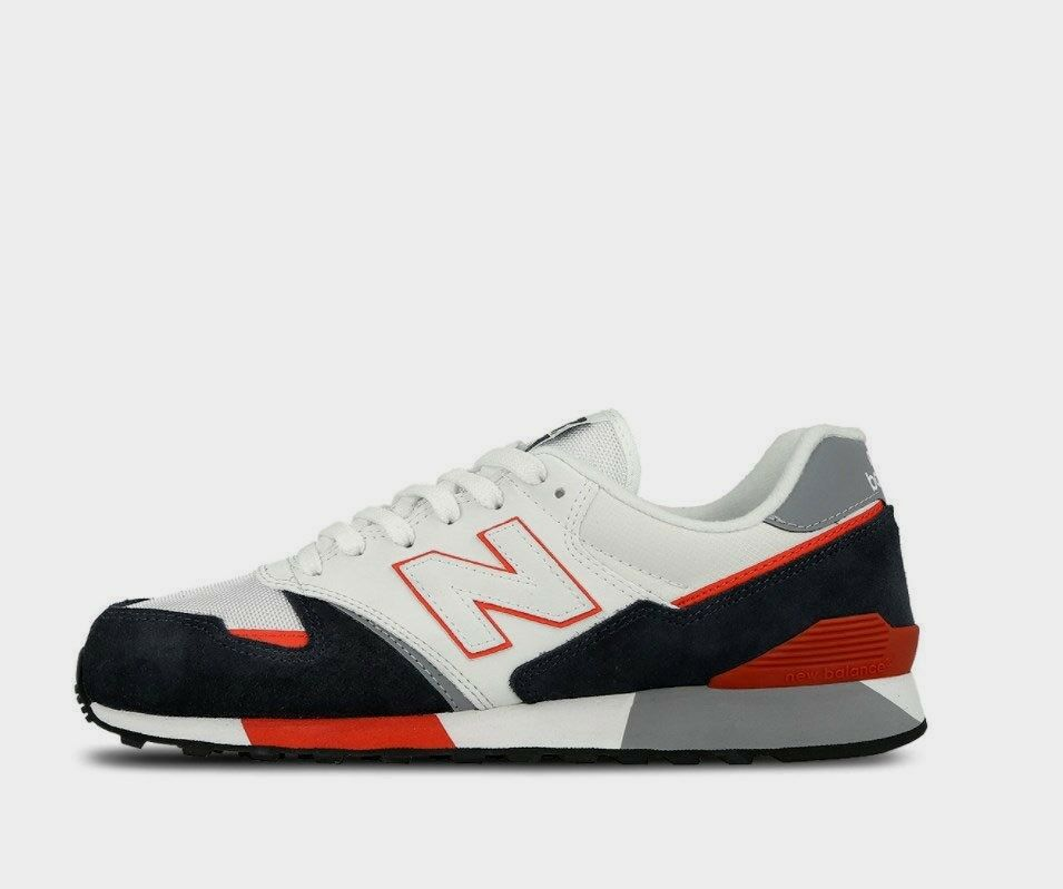 New Balance Men's 446 shoes NEW AUTHENTIC White orange bluee U446SNW