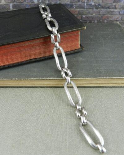 Vintage F.C.C. Sterling Silver Long Link Bracelet