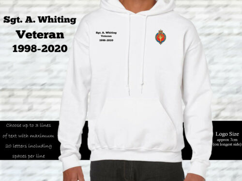 Details about  /Welsh Guards Personalised Hoodie