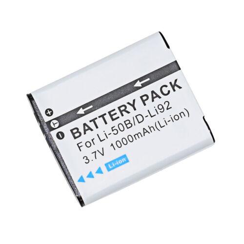 Reemplazo LI-50B 3.7V 900 mAh Batería para Olympus Stylus Tough 6020 8010