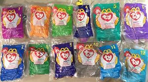 McDonald-039-s-Ty-TEENIE-Beanie-Baby-1998-Complete-Set-12-BEANIES-All-NEW-in-BAGS