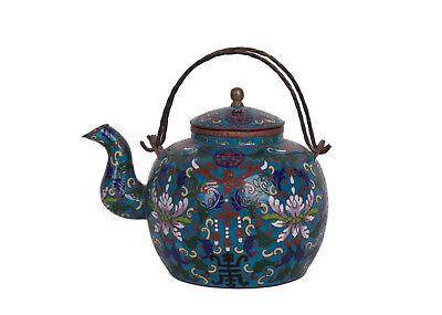 Jh Wein Kanne Qing Tee Neueste Kollektion Von China 19 a Chinese Cloisonne Teapot Théière Chinois