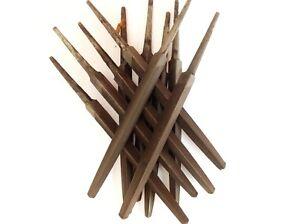 2-tlg-Metallfeile-100mm-dreikant-Hieb2-Flachstumpffeile