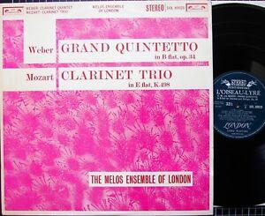 WEBER-Grand-Quintetto-op-34-MOZART-Kegelstatt-Trio-MELOS-ENSEMBLE-SOL-60020