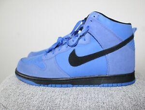 bc2c7fd1c5c8 New-Nike SB Dunk High Suede Comet Blue Black 904233-401- Size 11.5 ...
