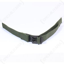 Original M1 Helmet Infantry Chin Strap - Green Web WW2 Canvas Webbing Unissued
