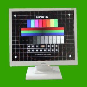 "48,3cm (19"") TFT Display Fujitsu E19-9  1280x1024 5:4 VGA DVI Sound Monitor weiß"