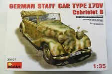 MINIART 1:35 KIT AUTO MILITARE TEDESCA STAFF CAR TYPE 170V CABRIOLET B ART 35107