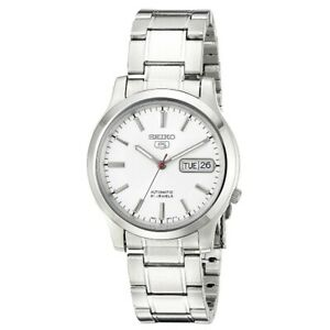 Seiko-5-SNK789-K1-White-Dial-Stainless-Steel-Men-039-s-Automatic-Analog-Watch