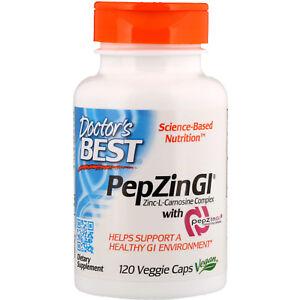 Doctor-s-Best-PepZin-GI-Zinc-L-Carnosine-Complex-120-Veggie-Caps-Gluten-Free