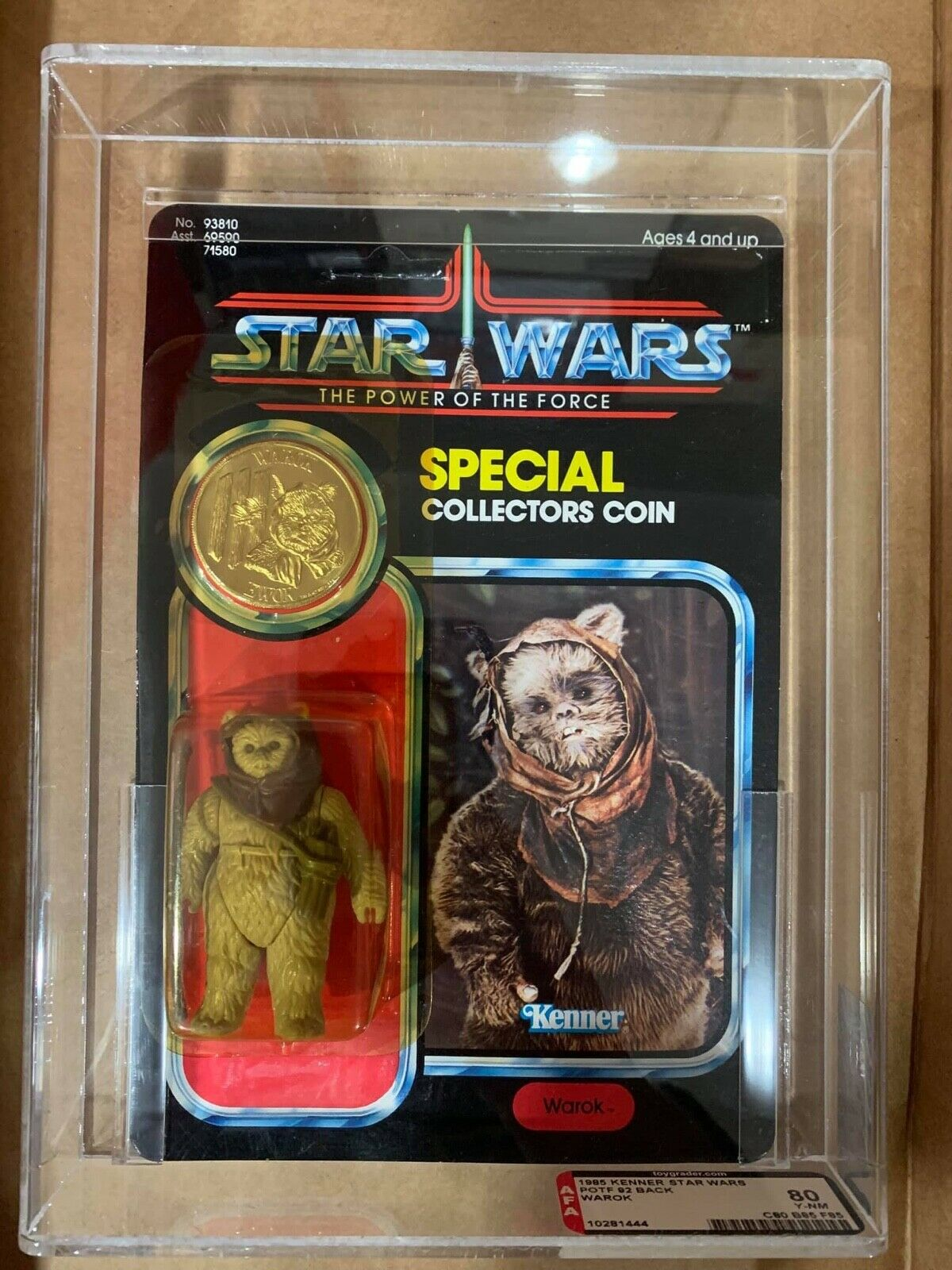 AFA 80 1985 Kenner botf warok 92 Background y - NM (80 - 85 - 85)