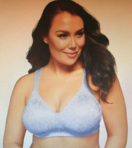 Playtex-18-HOUR-Size-22-D-Ulitmate-Lift-amp-Support-ZEN-BLUE-WireFree-Comfy-Bra