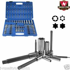 60 PC STAR TAMPER PROOF TORK TORX LONG E SOCKET BIT SET FOR RATCHET WRENCH TOOL