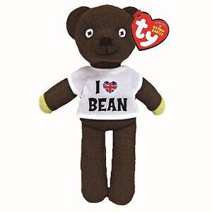 """OFFICIAL MR BEAN TEDDY BEAR BEANIE - I Love T Shirt Teddie 8"""""""