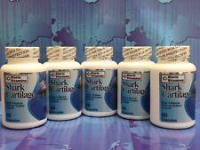 5 Shark Cartilage 750mg 300 caps Defense System Cartilago de Tiburon Made in USA