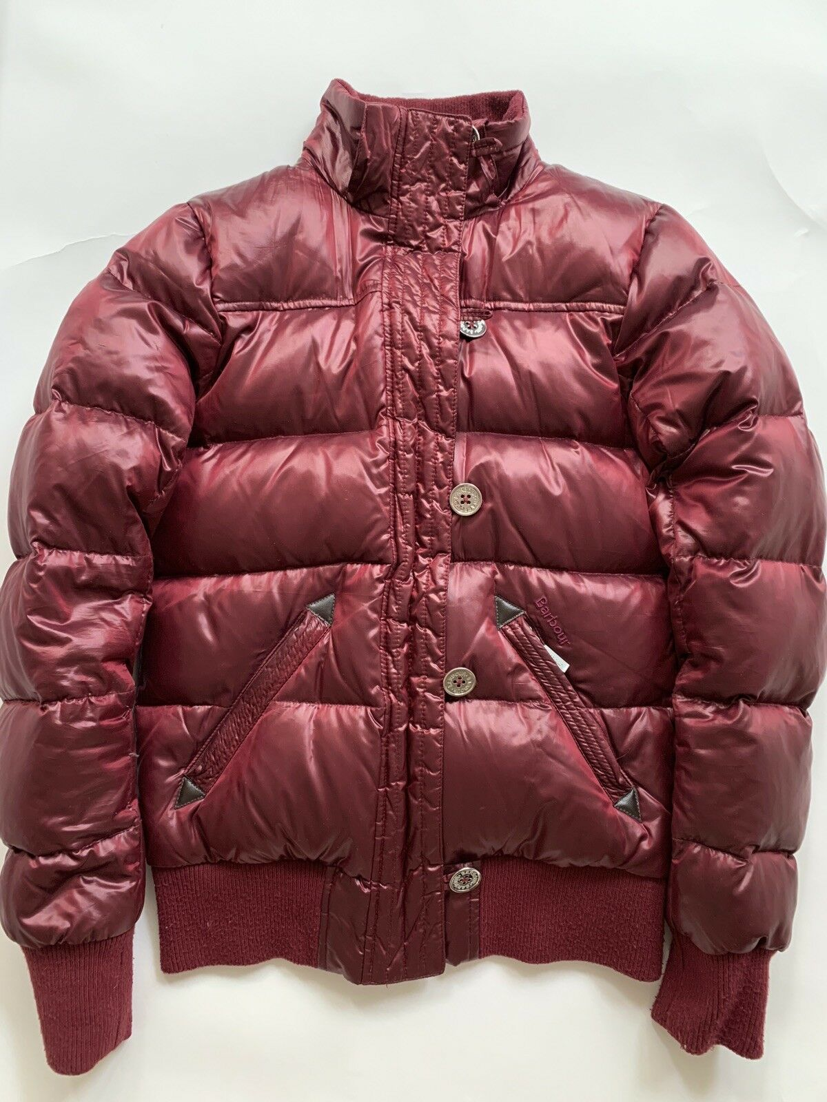 Barbour Heritage Mercury Down Puffer Bomber Red - image 9