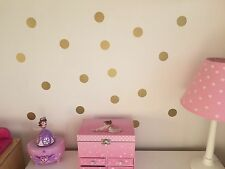 Set of 120 Polka Dot Wall Stickers Decal Childs Kids Vinyl Art Decor spots