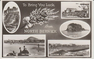 NORTH-BERWICK-MULTIVIEW-REAL-PHOTO-POSTCARD-P-U-1952