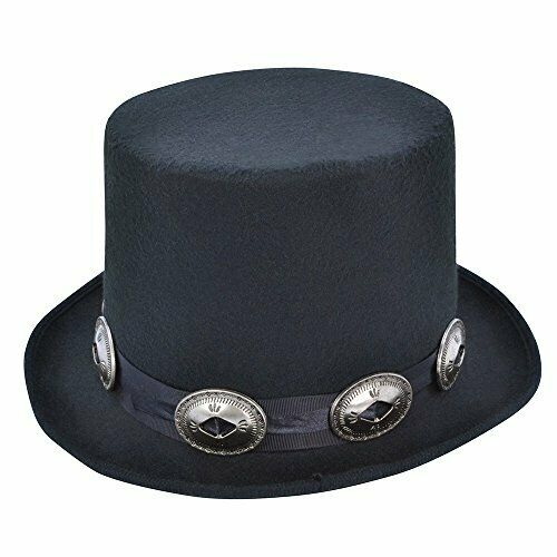 One Size Mens Bristol Novelty BH642 Rocker Style Top Hat Black