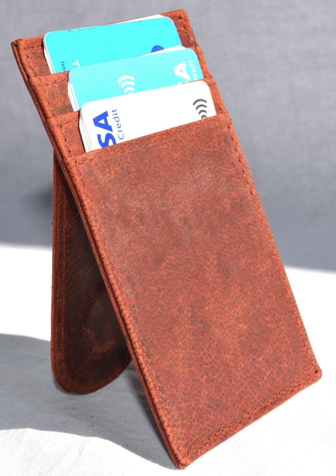 RFID Secure Designer Real Leather Slim Card Holder/Wallet/Purse 15.00 UK