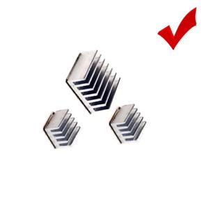 Silver Adhesive Aluminum 3PCS Heatsink Cooler Radiating fr Raspberry  Pi LM2596