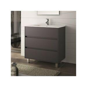 meuble de salle de bain toilette 80 cm au sol avec evier. Black Bedroom Furniture Sets. Home Design Ideas
