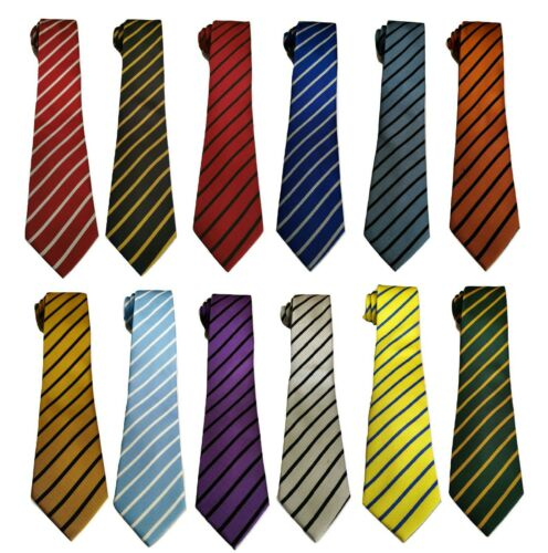 Uniforme escolar para Hombres Chicos Fiesta de graduación de fútbol con franjas Corbata
