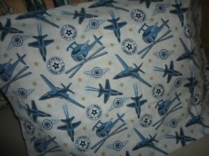 "Pottery Barn Kids /""Airplanes//Buses//Trucks/"" Pillowcase"