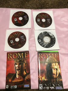 Rome-Total-War-Gold-Edition-PC-DVD-ROM-4-Discs-amp-2-Manuals-NO-CASE