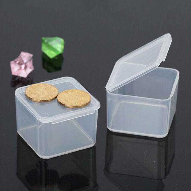 Clear Plastic Portable Transparent With Lid Storage Box Collection Container AU