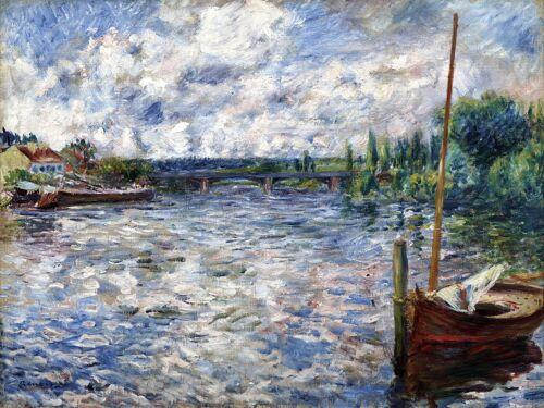 The Seine in Chatou river by Renoir Tile Mural Kitchen Backsplash Marble Ceramic