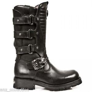 Scarpe s1 western in Strap Boots metallo Gothic Black Rock Newrock New 7604 Matellic zUHtUq