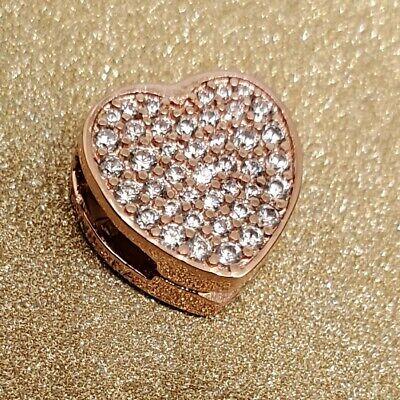 100% PANDORA Reflexions™ Silver Rose Pave Heart Clip Charm 798684C01  788684C01 | eBay