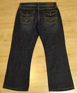 SEVEN7-Ladies-Blue-Denim-Bootcut-JEANS-Size-Waist-34-034-Leg-28-034-SEVEN-7
