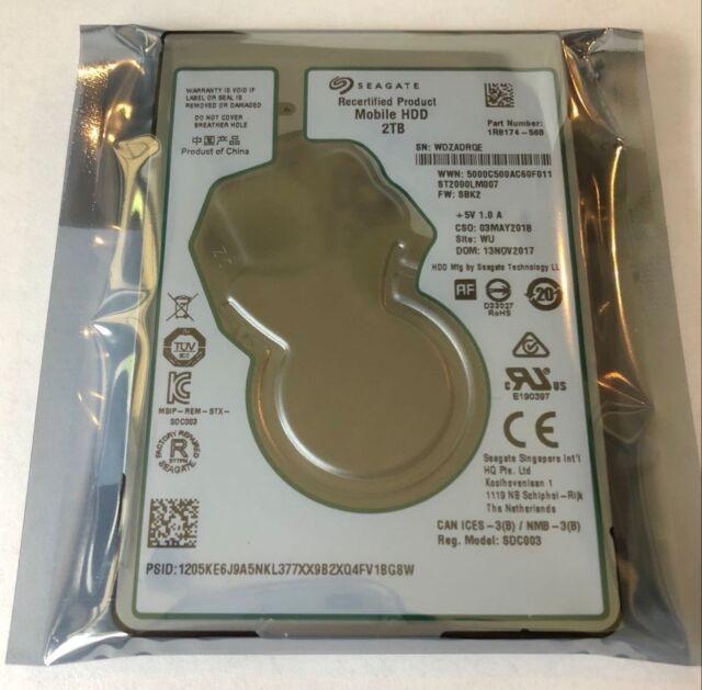 """Seagate ST2000LM007 2TB 2.5"""" SATA 6Gb/s Laptop PS4/PS3 Internal Hard Drive 7mm"""