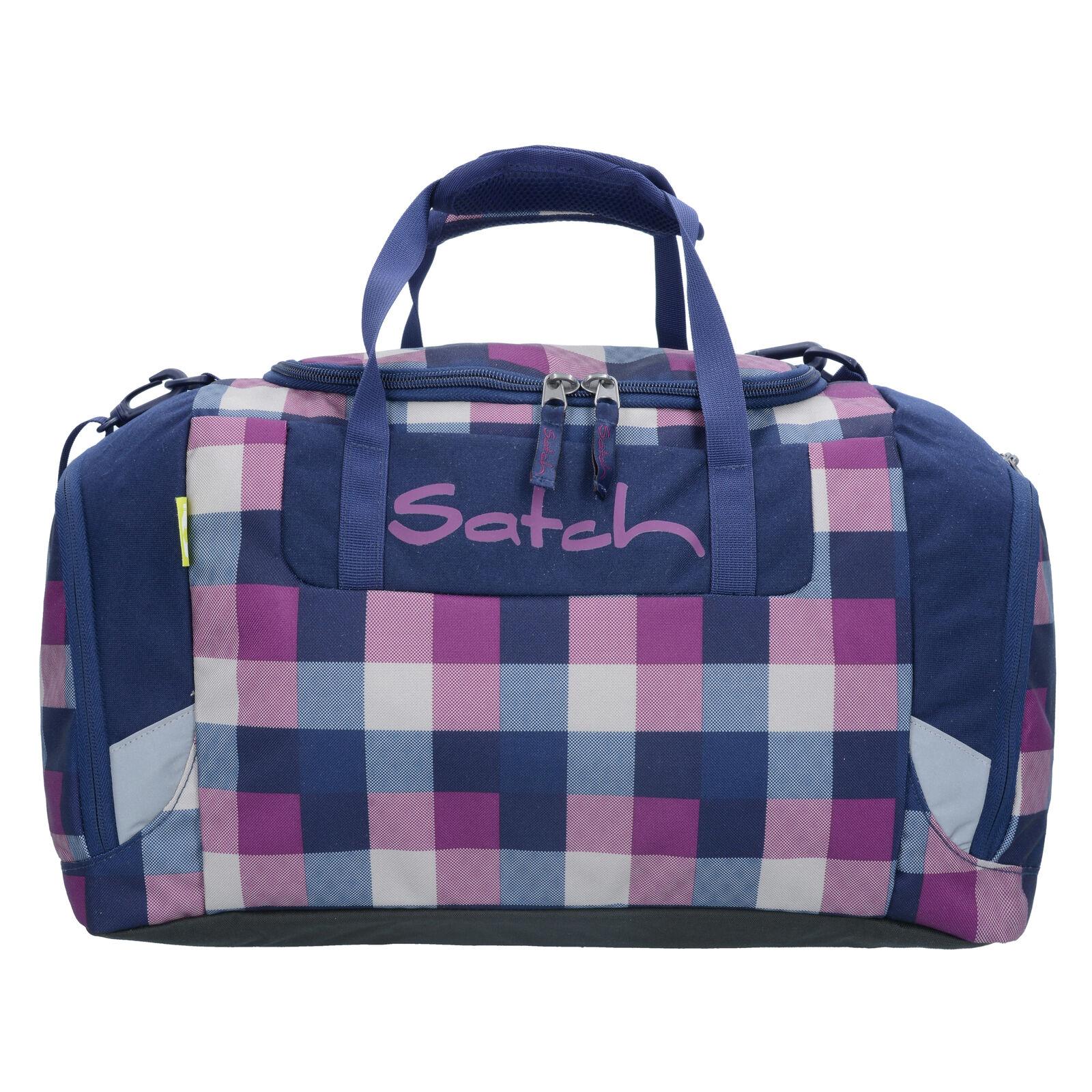 Satch Sports Bag 44 cm (karo purple blue berry carry)