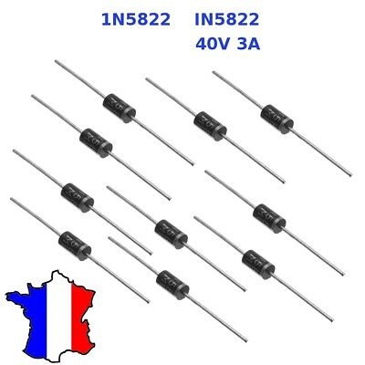 Bellissimo Diodes Puissance Type Schottky 1n 5822 3 A / 40v Train Ho In5822 3a 1n5822 Squisito Artigianato;