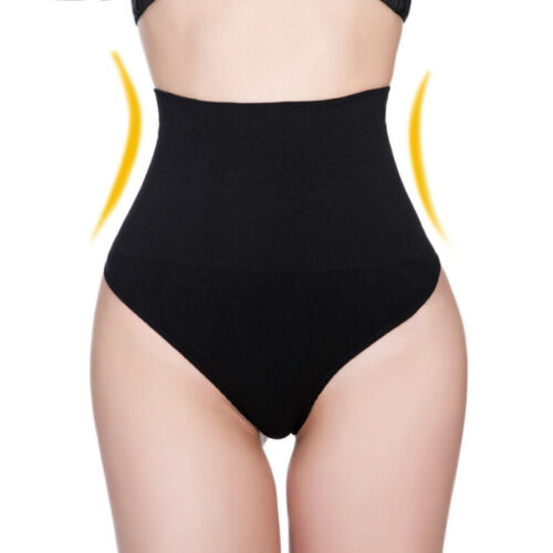 Women High Waist Trainer Tummy Control Body Shaper Thongs Panty Shapewear Briefs