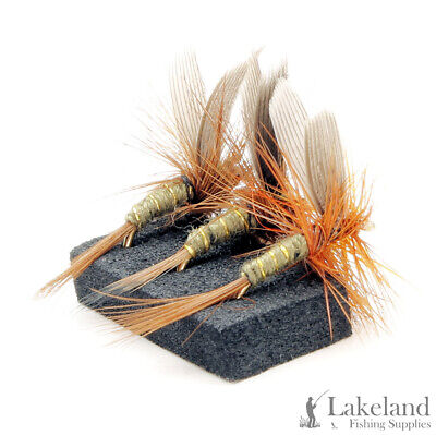 3 Set M56S 6 or 12x Greenwells Glory Dry Trout Flies for Fly Fishing