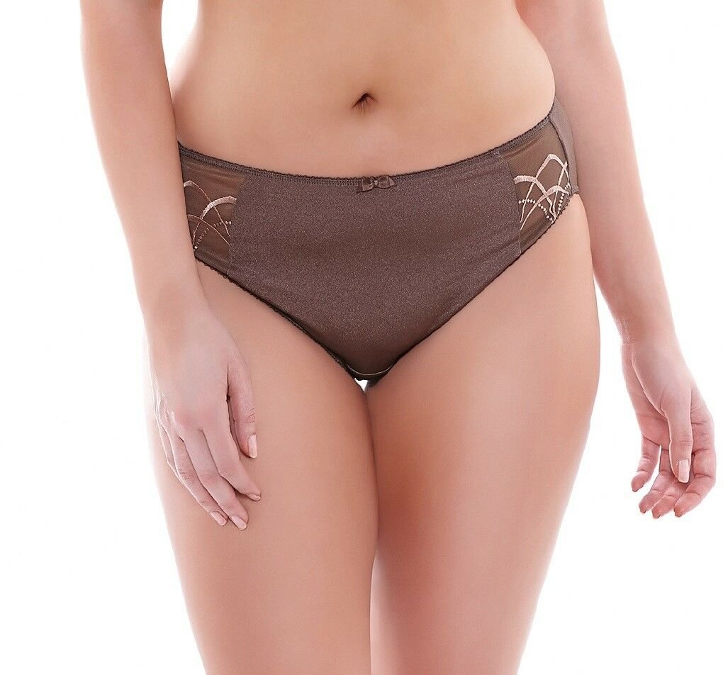 Elomi Women's Cate EL4035 Pecan Brief NWT Available Sizes M-2L