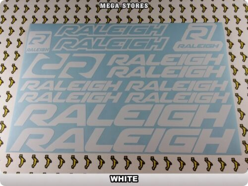 RALEIGH Stickers Decals Bicycles Bikes Cycles Frames Forks Mountain MTB BMX 59MB