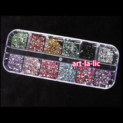 3000pcs Nail Art rhinestones decoration for uv gel acrylic systems 1.5mm