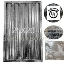 Restaurant Exhaust Hood Baffle Grease Filter 25x16 Ul Galvanized Coa