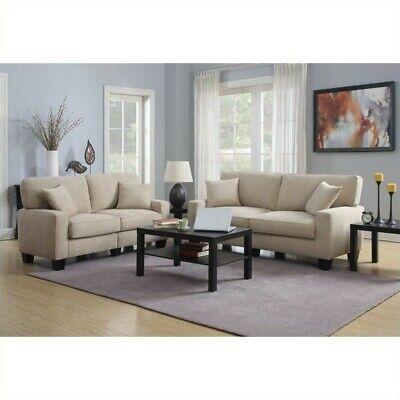 Awesome Serta Rta Martinique 2 Piece 78 Fabric Sofa Set In Silica Sand 688168823329 Ebay Uwap Interior Chair Design Uwaporg