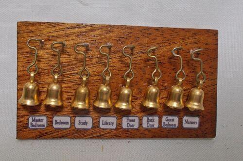 Dolls House Miniature mahogany Set of Servants Bells Downton Abbey Victorian Puppenstuben & -häuser