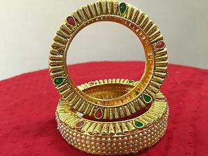 Indian-Bangles-Bracelet-Kada-18K-Gold-Plated-Fashion-Party-Wear-Wedding-Jewelry