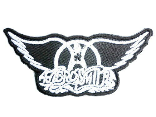 """Aerosmith Wings Iron On Sew On Embroidered Patch 3.5/""""x1.5/"""""""