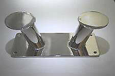 Double Horn Bollard Cleat 316 Stainless Steel Marine Mooring 25mm, 220mm Length