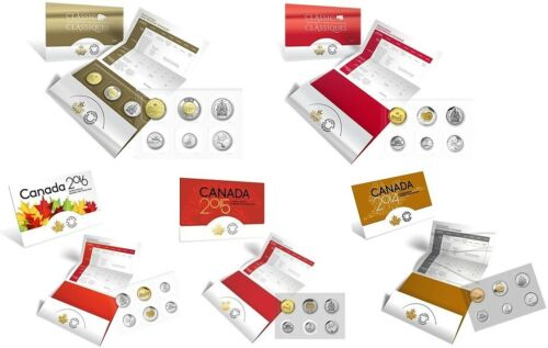 2014 2016 2017 /& 2018 Classic Canadian Uncirculated Coin Sets 2015