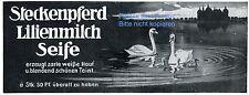 Steckenpferd Lilienmilch Seife Reklame von 1912 Schloss Moritzburg Schwan ad